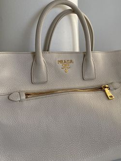 Authentic Prada Large Bag - Ivory Leather for Sale in Wellesley,  MA