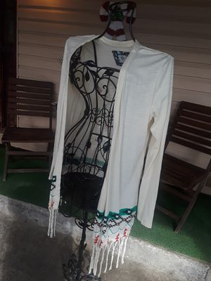 Element cardigan medium boho tribal fringe gently used in excellent condition located in south Sacramento for Sale in Sacramento, CA