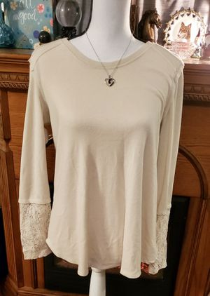 Cream Lace Embellished Long Sleeve Women's Blouse for Sale in Ripley, WV