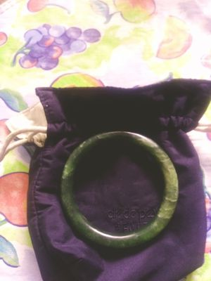 Jade braceletake offer or trade for terquose ring for Sale in San Antonio, TX