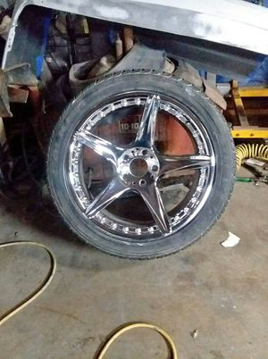 """22"""" rims and tires for Sale in Fort Dodge, IA"""