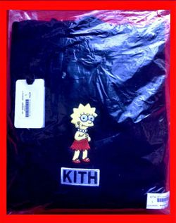 Kith X For The Simpsons Lisa Classic Logo Cotton Fleece Hoodie Sweatshirt Black Size Men's L Lg Large ⭐️ Brand New with Tag Sealed In Bag + Receipt for Sale in Cherry Hill,  NJ