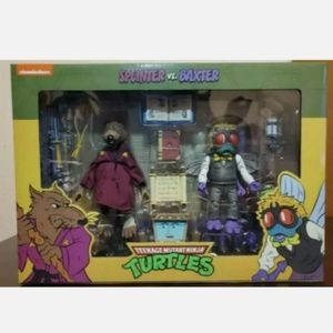 Up For Trade Neca Teenage Mutant Ninja Turtles Splinter & Baxter 2 Pack Collectible Action Figure Toy for Sale in Chicago, IL