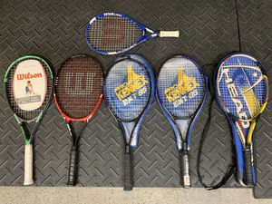 Tennis rackets with ball rack for Sale in Simi Valley, CA