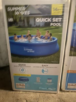 Summer waves quick set pool 14ft for Sale in Bayonne, NJ