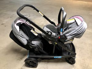 Uno 2 duo stroller & car seat + extra seat for Sale in Fort Lauderdale, FL