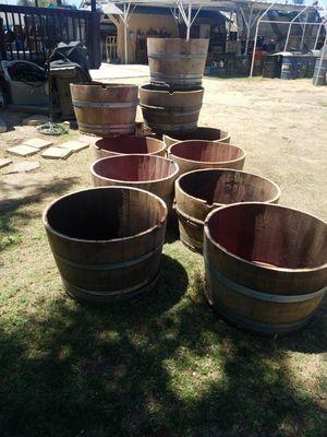 Oak barrels half for Sale in Sanger, CA