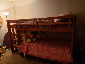 wooden twin bunk bed with dresser for Sale in Atlanta, GA