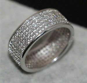 925 Solid Sterling Silver White Sapphire Wedding Band for Sale in Wichita, KS