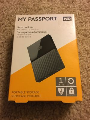 My Passport 1TB by WD for Sale in Seattle, WA