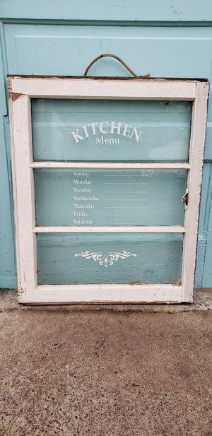 Chippy old window kitchen menu for Sale in Oak Harbor, WA