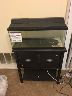 20 gal long aquarium w/ stand and hood/light AND filter!!! for Sale in District Heights, MD