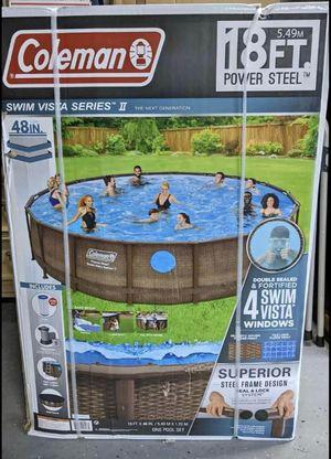 "Coleman 18' x 48"" Power Steel Swim Vista Series II Swimming Pool Set for Sale in Eldersburg, MD"
