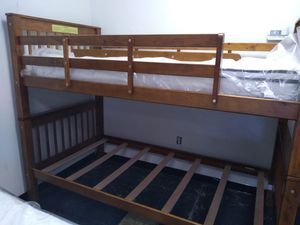 Wooden bunk bed 195 for Sale in Grove City, OH