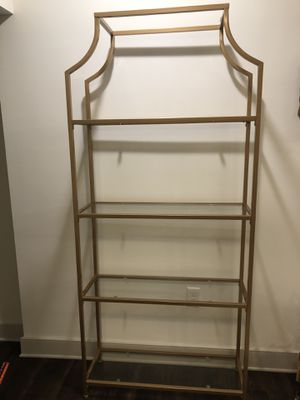 New gold / brass bookcase shelf for Sale in Raleigh, NC