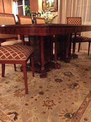 Moving Sale - 6 seat dining table (sold with 6 chairs) for Sale in West Los Angeles, CA