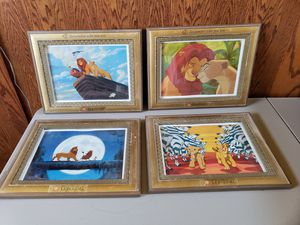 The Lion King Framed Lithographs - Disney Limited Edition with Special Frames for Sale in Tracy, CA