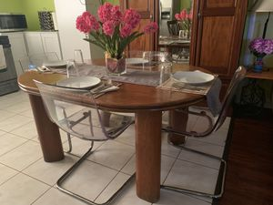 Wooden Table with 4 chairs for Sale in Santa Ana, CA