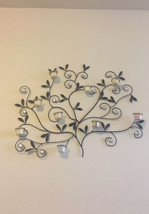 Wire wall decor 9 candle holder for Sale in Fort Belvoir, VA