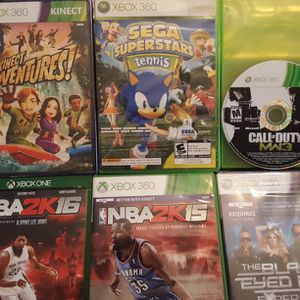 XBOX 360 Bundle - 5 Games + 1 Xbox One Game for Sale in Hollywood, FL