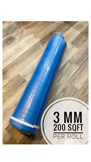 New 2 in 1 3mm Blue Underlayment /Each roll $23 (200 S.F./Per Roll) for Sale in Fontana, CA