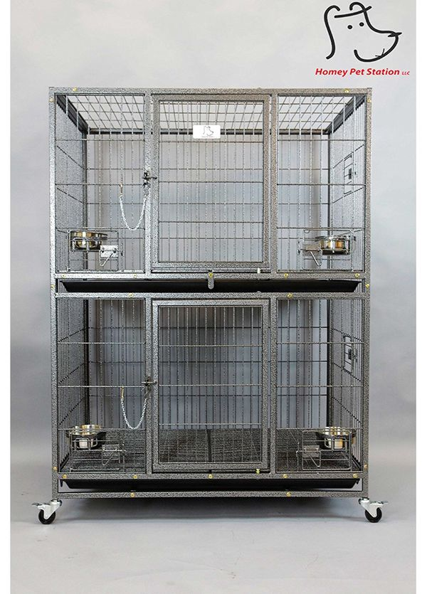 Two Tiers Dog Pet Cage Kennel Size 37 Inch New In Box