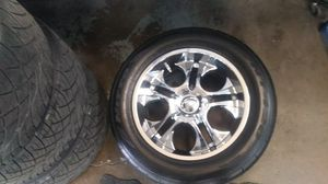 """20"""" Custom Rims. And tires for Sale in Pleasant Hill, IA"""