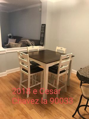 5pc counter high table set for Sale in West Hollywood, CA
