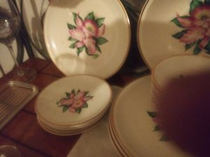 Modern orchid antique china set 42 peices for Sale in Gainesville, GA