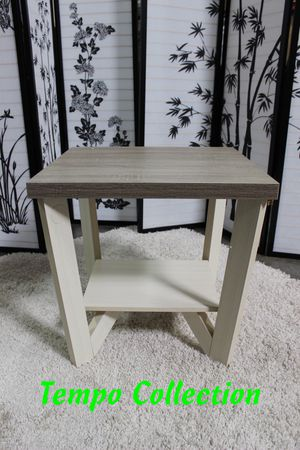 NEW, Grace Coffee Table and End Table, Dark Taupe and Ivory, SKU# 161602ET for Sale in Fountain Valley, CA
