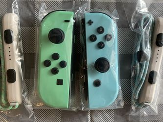 New And Unsed authentic  Animal Crossing Edition Nintendo Switch Joycons Joy Con Left + Right Controllers for Sale in Monterey Park, CA