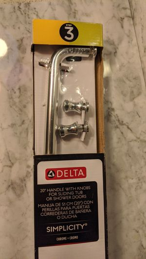 "Delta 20"" Handle with Knobs for sliding tub or shower doors for Sale in Peoria, AZ"