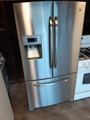 French door refrigerator beautiful 3month warranty for Sale in Downey, CA