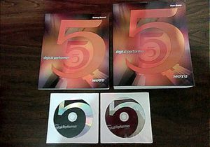 Motu Digital Performer 5 Music Production Softwares for Mac Desktop or Laptop. for Sale in New York, NY