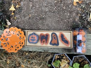 Halloween plate, candles and ice cube package for Sale in Centennial, CO