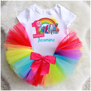Rainbow Trolls Birthday Tutu Outfit Set for Sale in Miami, FL