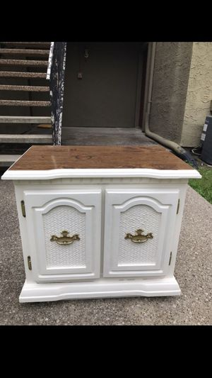 1 nightstand refinished white with Formica top. 26 inches ( left to right), 16 inches ( front to back), 24 inches tall for Sale in Mesquite, TX