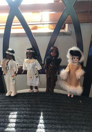Antique Native American dolls 5.00 for all 4 for Sale in Fairview Park, OH
