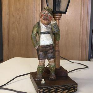 Vintage Folk Wood Art Haufbrau Desk Lamp for Sale in Henderson, NV