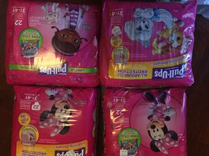 Huggies pull-up 4 packs 3-4T for Sale in Valley Stream, NY