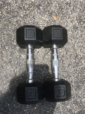 10lb dumbbell weight set for Sale in Hialeah, FL