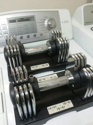 Pair of 25lb adjustable dumbbells for Sale in Chicago, IL