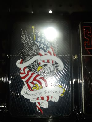 New American legend eagle and flag windproof oil lighter similar to zippo for Sale for sale  Lancaster, OH