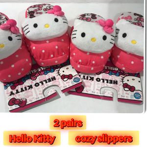 Hello Kitty Big Girl 2 Slippers XL 4-5 & Med 13-1 for Sale in Tinton Falls, NJ