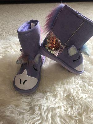 Muk luks purple unicorn boots for Sale in Land O Lakes, FL