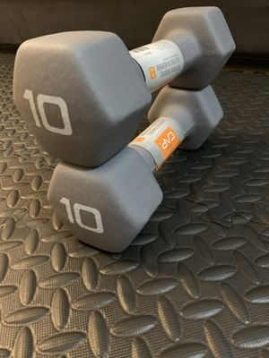 Brand new pair of 10 pound dumbbells for Sale in Secaucus, NJ