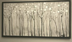 """Wall art: modern abstract original painting 12x24"""" for Sale in Arvada, CO"""