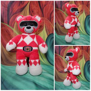 Build A Bear Red Power Rangers Plush Saban Doll Limited Edition 2017 BAB Teddy for Sale in Hallettsville, TX