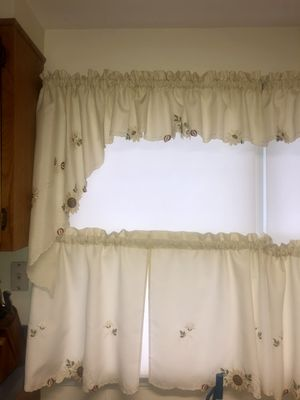 Sunflower kitchen curtains for Sale in Levittown, NY