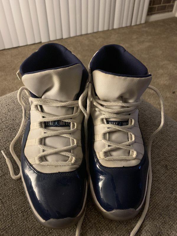 Jordan 11 white and blue size 13